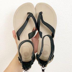 Ugh black sandal size 6